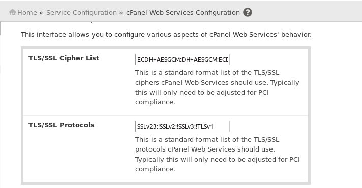 cpanel_webservice_configuration